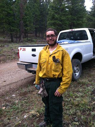 Ben firefighting